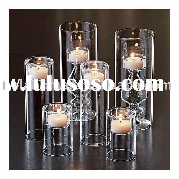 Tall Clear Glass Tealight Candle Holder