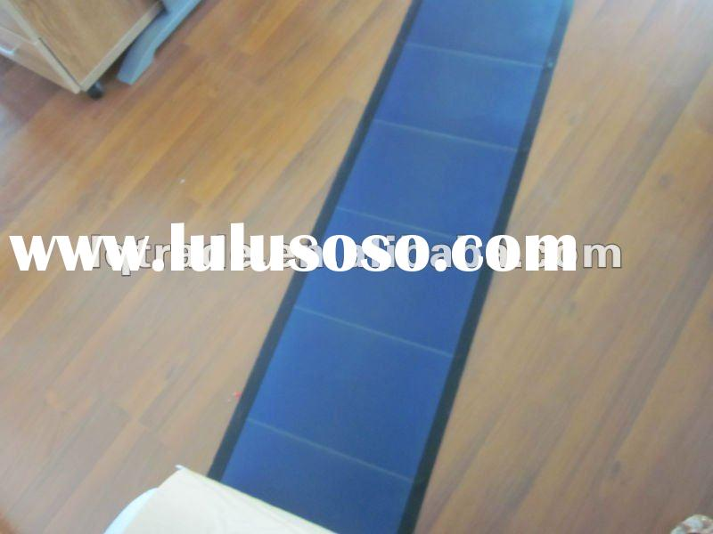 Thin film amorphous silicon flexible solar panel roofing system