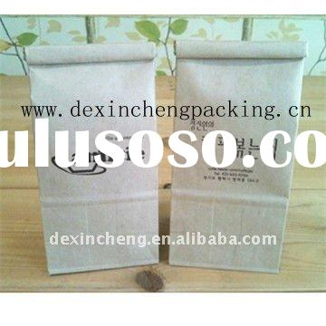 Tin Tie Cofee Bags Kraft Paper Laminated Clear Poly Liner (PP)