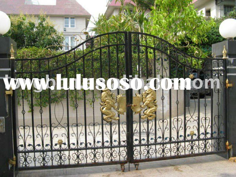 Top-selling wrought iron gate design for home,park,garden