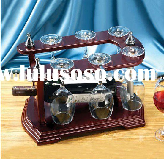 U shape red wine rack with glass holder,hanging wine rack,red wine glass holder