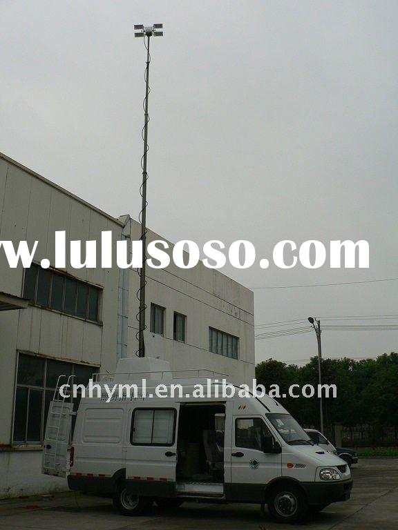 Van Mounted Telescoping Mast Light Tower And Mobile Light Tower And Pneumatic Telescopic Mast
