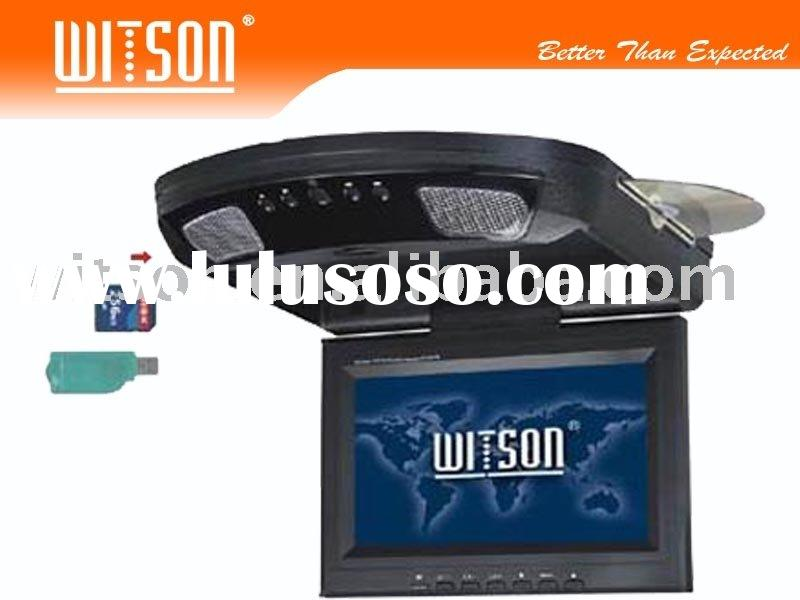 "WITSON 8.5""/9""Flip Down Car DVD player with USB Port, SD Card Slot"