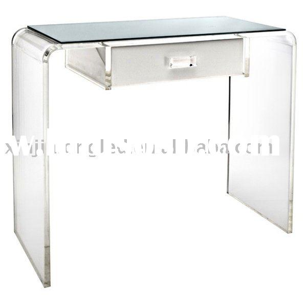 Waterfall Vanity lucite table Lucite Desk