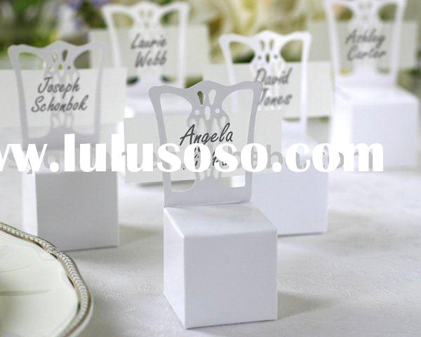 Wedding favor,candy box-Miniature Chair Place Card Holder and Favor Box