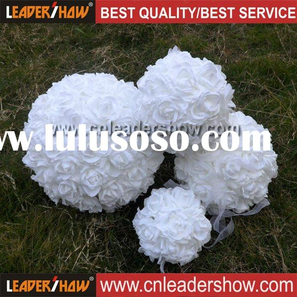 White Artificial Rose Flower Ball