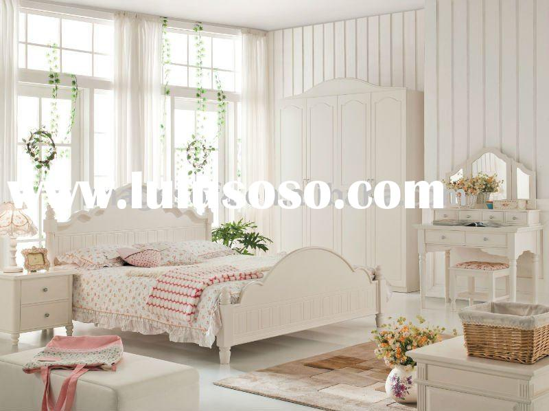 White MDF / Oak Bedroom Furniture sets