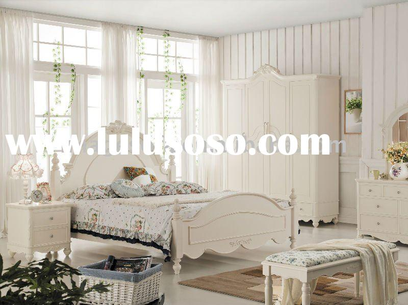 White MDF & Oak furniture Bedroom sets/dress table/wardrobe/night stand