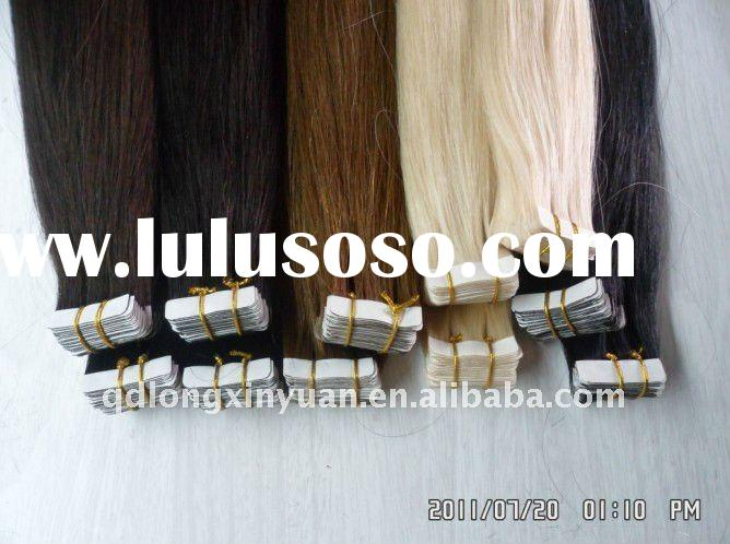 Wholesale Top Quality 20inch remy Brazilian human hair tape hair extensions,skin weft
