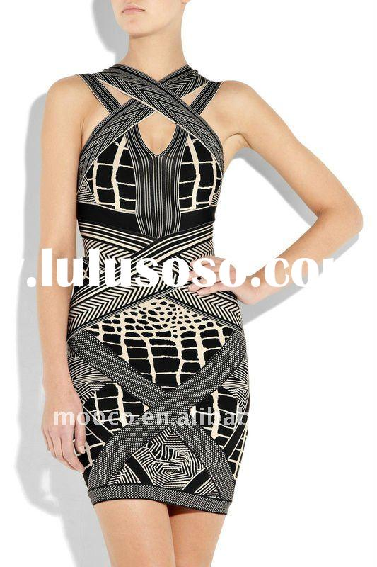 Wholesale high quality black evening dress