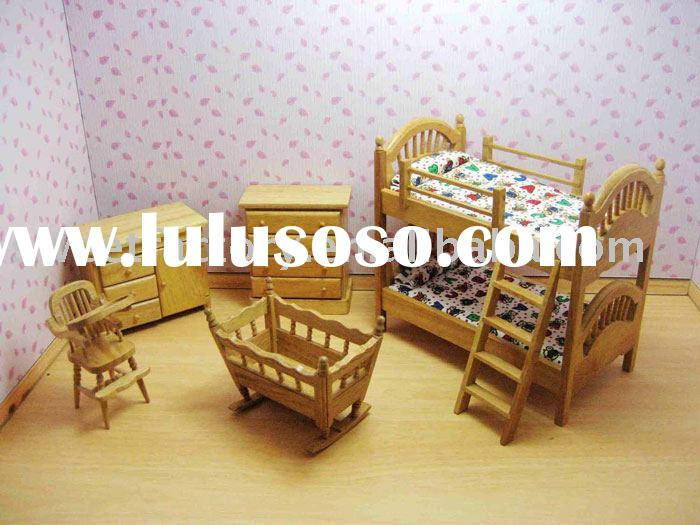 Wooden toy dolls house images Wooden baby doll furniture