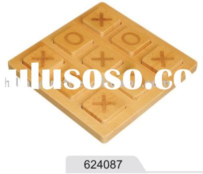 XO game wooden puzzle game