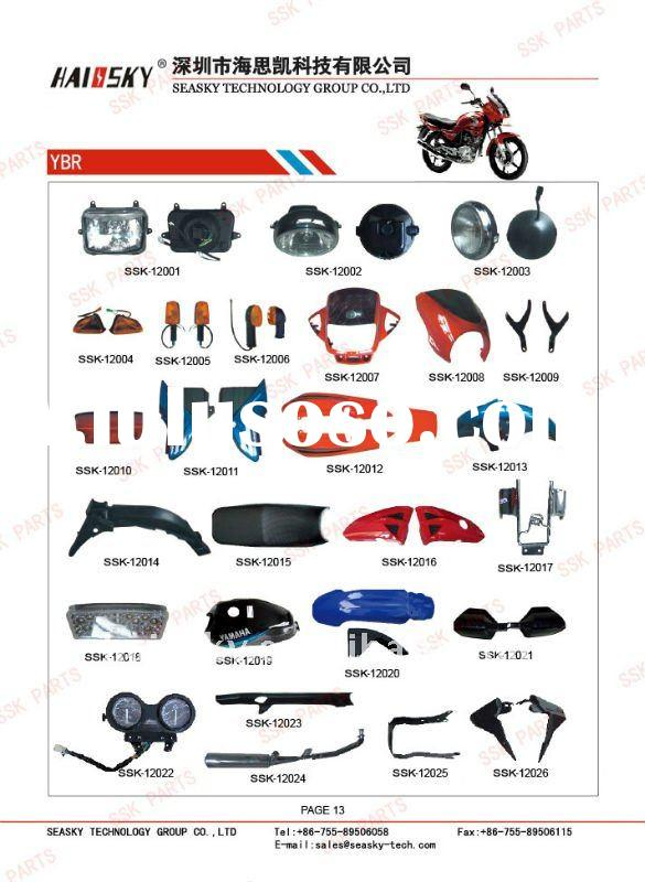 YBR125 motorcycle spare parts (head light,cover,side cover,winker,seat)