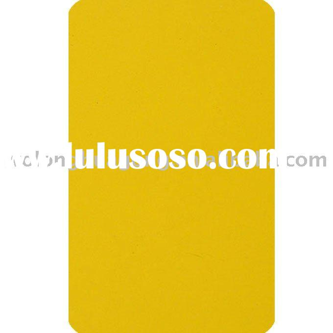 Yellow epoxy polyester powder coating