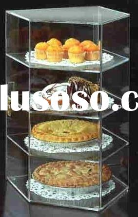 acrylic bakery stand/4 Tier Acrylic Bakery Display Case