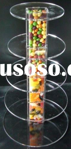 acrylic cake tower stand centre with centre cylinder