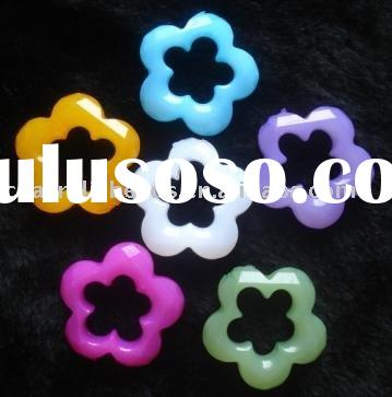 acrylic flower necklace beads, fashion flower necklace beads, wholesale flower necklace beads
