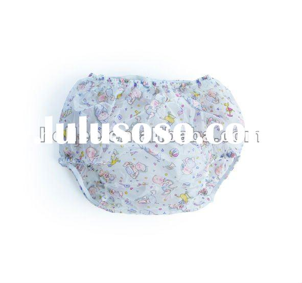 adult plastic diaper pants material:pvc have plain and printing 100% ...