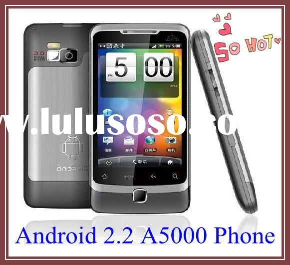 android phones unlocked phones A5000 with Android 2.2 GPS WIFI TV dual sim mobile phones