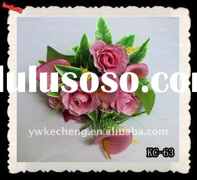 artificial flowers,fake lily bush,festival decorative gifts