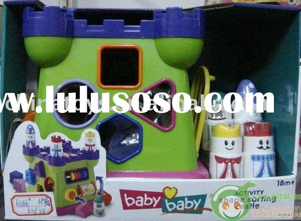 baby shape sorting castle/toy for kids/plastic toys/children toys
