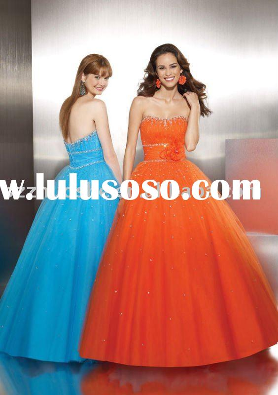 ball gown puffy prom dresses WZ2031