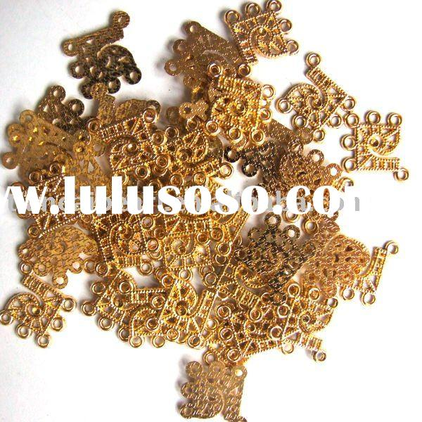beautiful gold plated earring finding