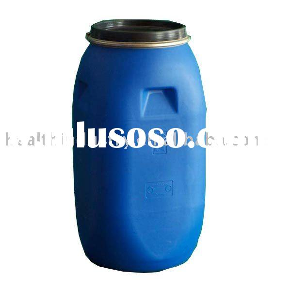 blue plastic barrel drums