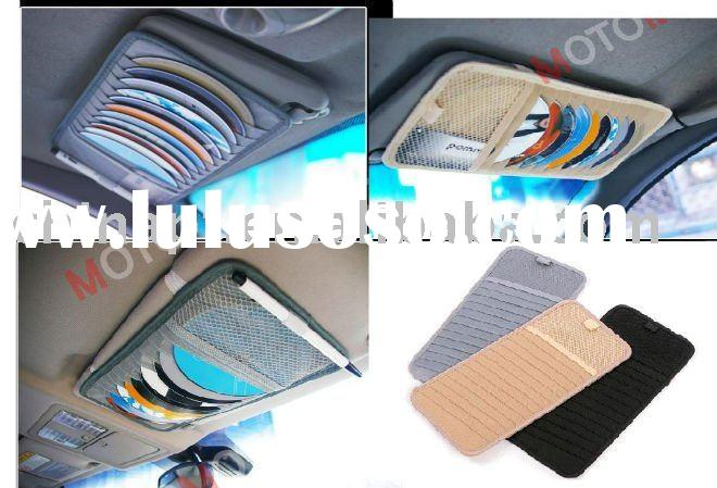 car sun visor CD holder