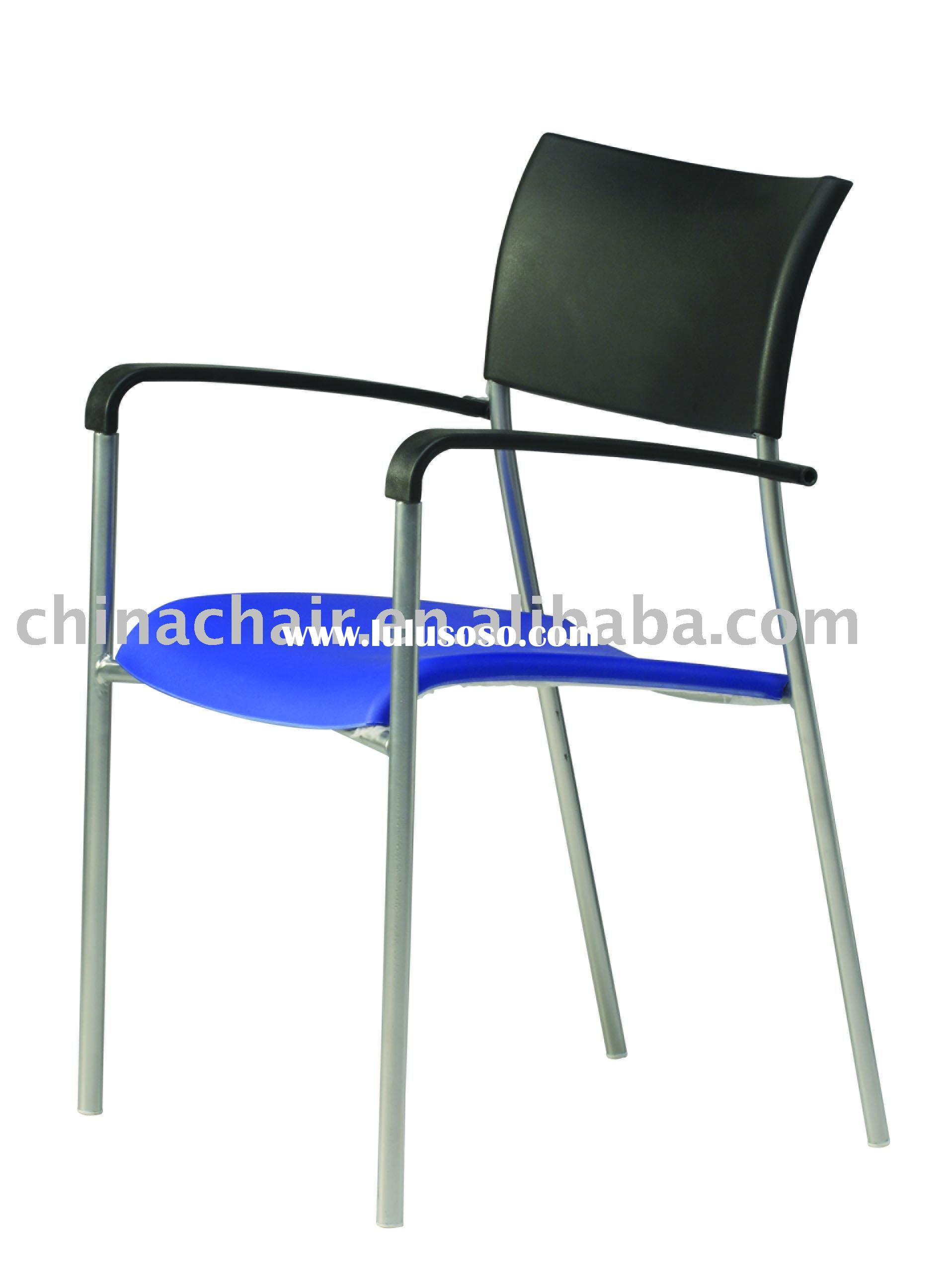 cheap plastic waiting area visitor stackable chairs with armrest for company