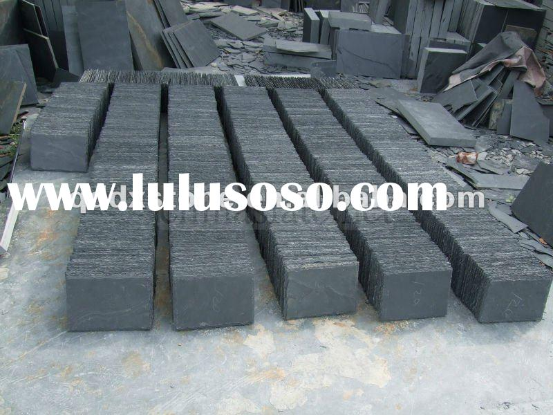 china black brick slate wall tiles