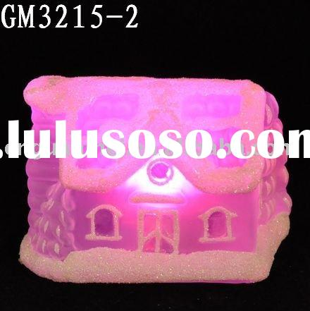 christmas glass decoration with LED light/glass art and craft