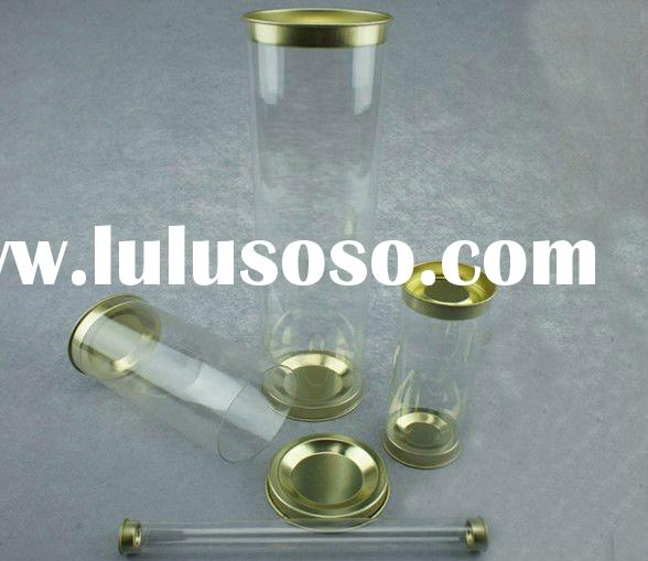 clear plastic pc cylinder tube for crafts,candy