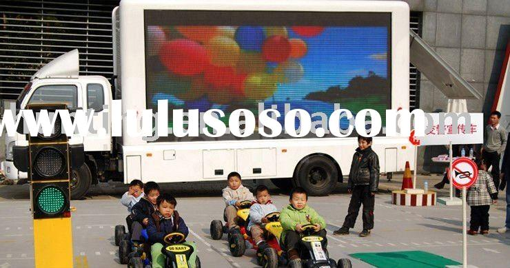 complete set mobile truck LED display for outdoor advertisement