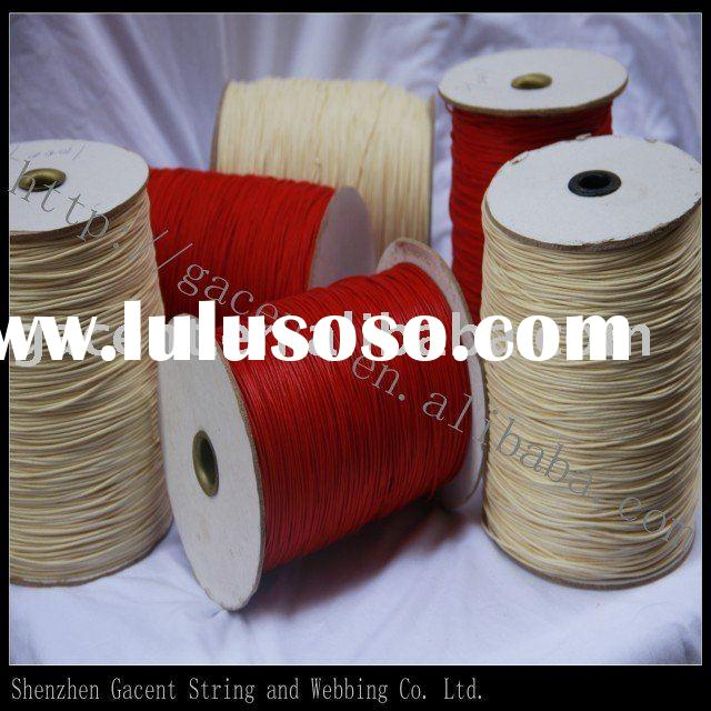 cotton cord garment accessory Waxed string waxed cotton