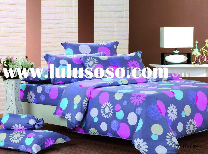 cotton printed bedding set/bed sheet/bed linen/bed spread
