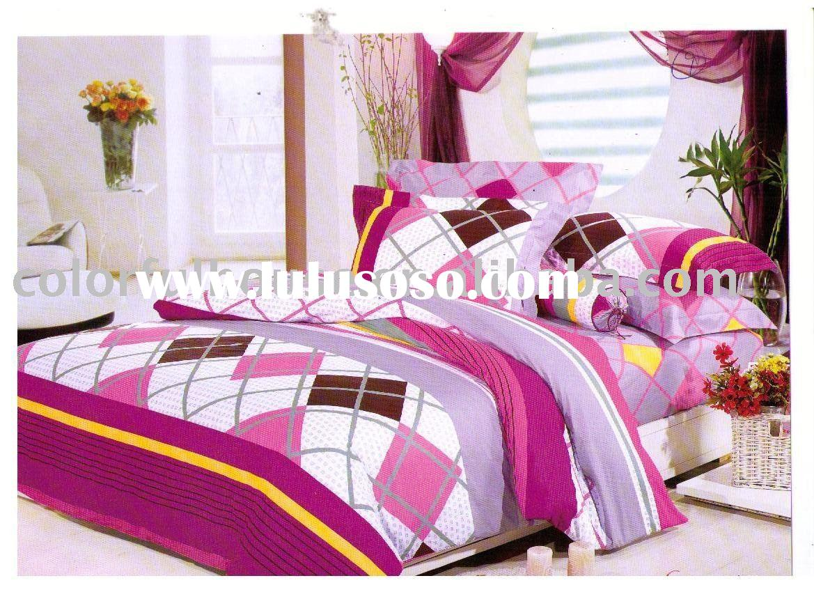 cotton printed bedding set/bed sheet/duvet cover
