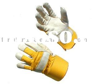 cow grain leather working gloves