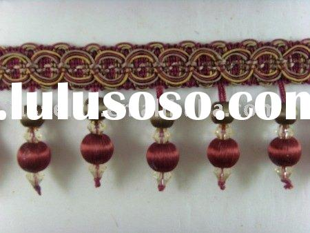 curtain accessories, fringe, home decorative trimming, tassel