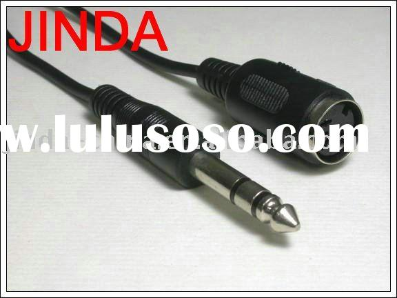 din jack to 3.5 stereo plug audio cable