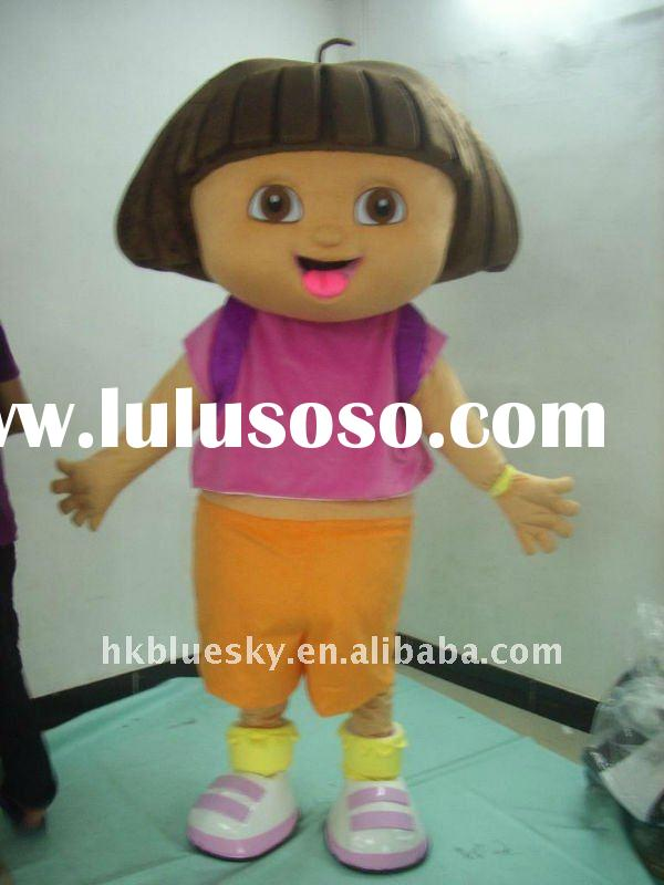 dora the explorer mascot party costume