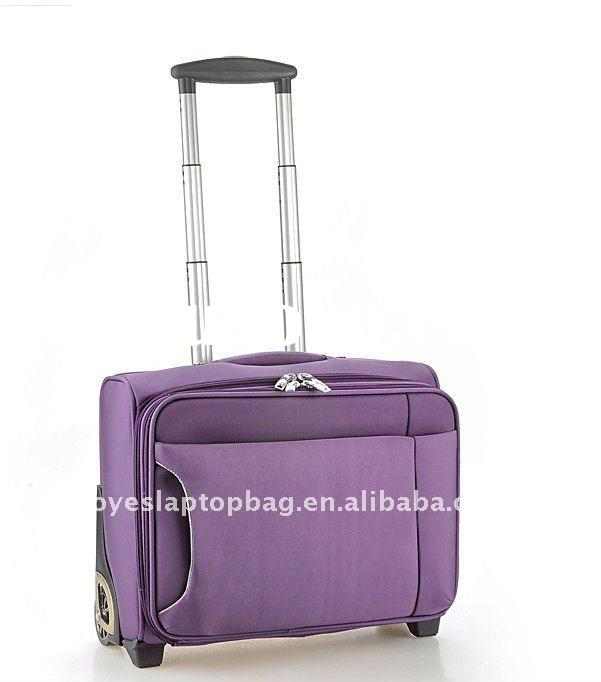 durable nylon trolley bag laptop bag with wheels