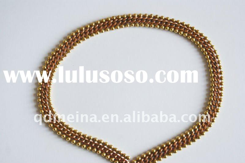 fashion brass 18k gold metal plated bracelet chain