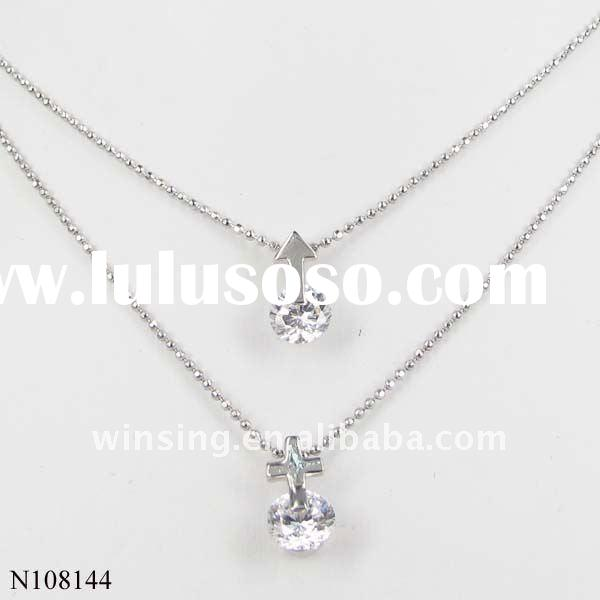 fashion cross pendant necklace with crystals