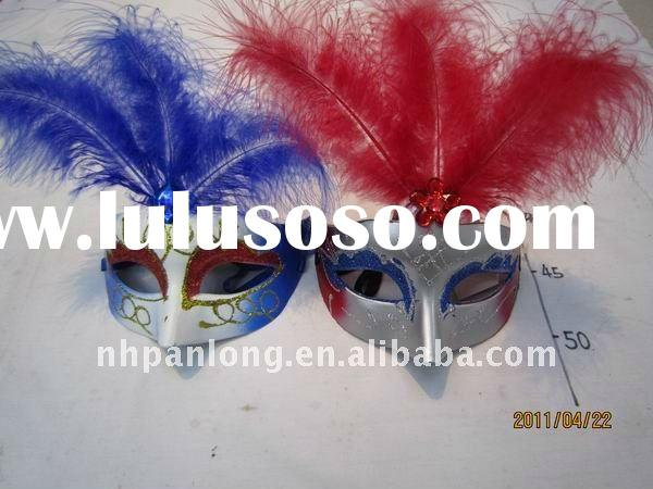 fashion helloween carnival christmas feather eye party 3m face air body bondage beauty face mask