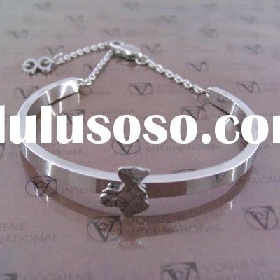 fashion jewelry, bear bangle, stainless steel bangle