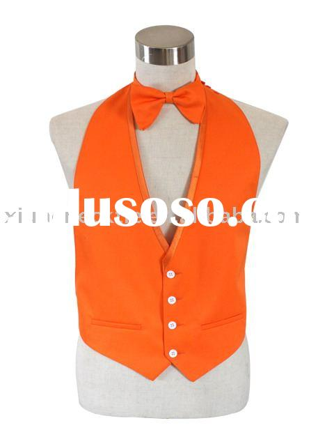 fashion men's formal orange suit vest