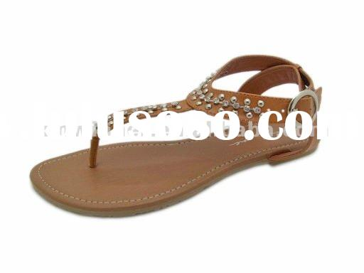 flat leather sandals for ladies