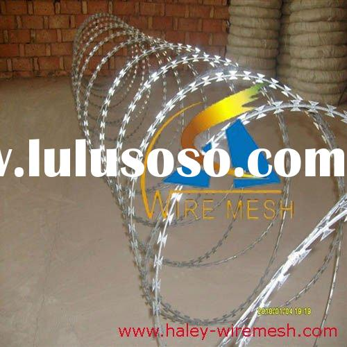 flat wrap/concertina razor barbed wire,galvanized & pvc coated razor wire