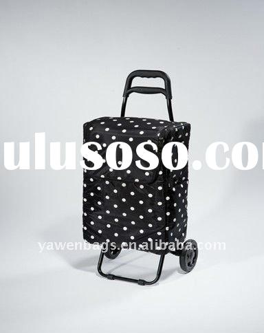 folding shopping trolley with cooler bag (B19294)